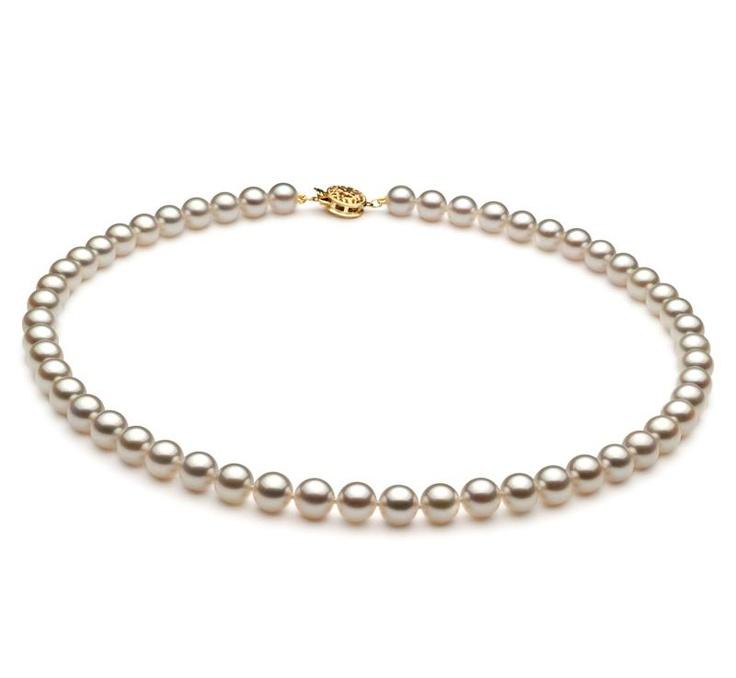 Nevia Halskette - Weiß AAA 6.5-7mm Japanische Akoya