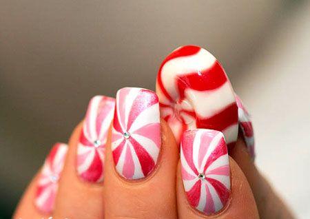 Candy Nail Art: Nails Tricks, Nailart, Nails Design, Christmas Candy, Naildesign, Candy Canes, Candy Nails, Nails Art Design, Holidays Nails