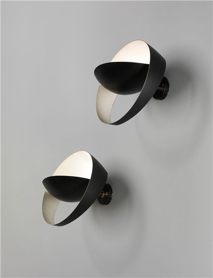 SERGE MOUILLE, Pair of 'Saturne' wall lights cool modern idea for outdoor deck lighting
