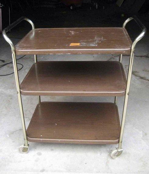 Before: Flea Market Bar Cart