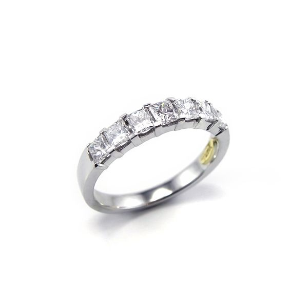 Princess cut diamonds wedding ring in 18 carat white gold, by Anania. #Wedding #Rings #Sydney #Engagement #Eternity #Jewellery