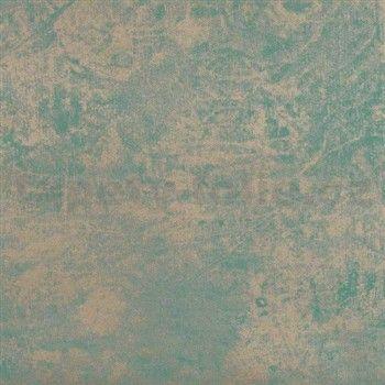 Tapety na zeď La Veneziana - stříbrno-tyrkysové s metalickým efektem - SLEVA
