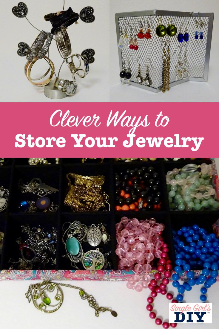 Try these thrifty and creative DIY jewelry storage ideas. They'll keep your pieces organized, and make a pretty display so you can find and wear the pieces you love.