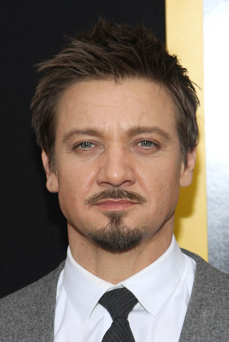 Jeremy Renner. A little sleepy, perfectly messy hair; of course you can take a nap in my bed, Mr. Renner;)