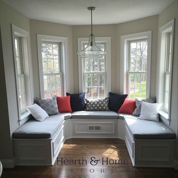 Custom Cushion Sewn Banquette Seat, Bench Cushion With Cording , Window Seat,  Chair Pad, Kitchen Cushion