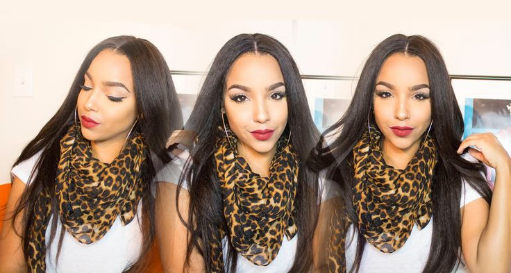 Tutorial |How To Lay A Kinky Straight Silk Top Lace Front Wig:Start To F...
