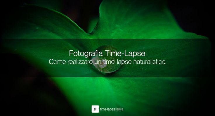 Come realizzare un time-lapse naturalistico