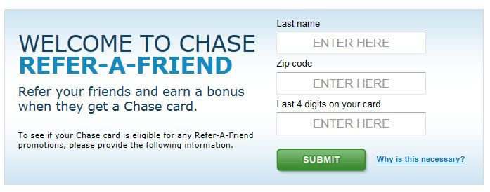 Updated List of Chase Credit Cards Currently Offering Refer-a-Friend Bonus