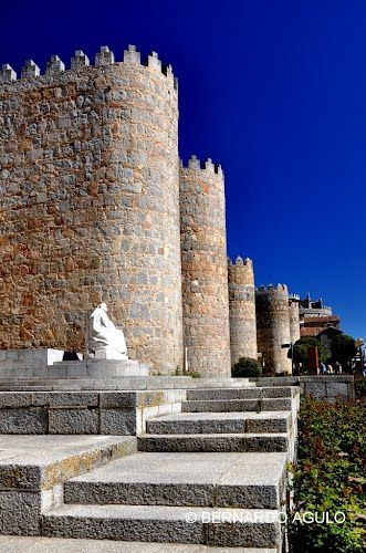 Walls of Avila, Spain, por Silverhead