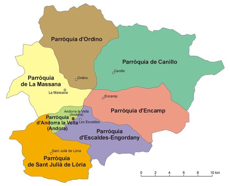 アンドラの地方行政区分図 ◆アンドラ - Wikipedia http://ja.wikipedia.org/wiki/%E3%82%A2%E3%83%B3%E3%83%89%E3%83%A9 #Andorra
