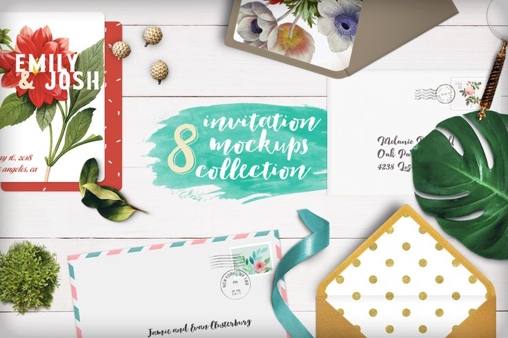 [-79%] Invitation Mockups Collection by Hype Your Prints on @creativemarket
