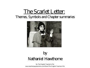 The Scarlet Letter Themes, Symbols and Chapter Summaries PowerPoint ...