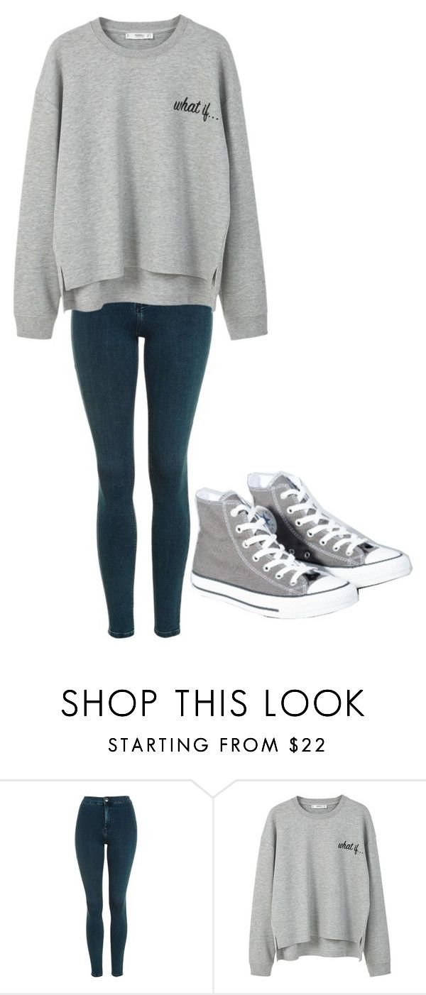 """""""Untitled #187"""" by cruciangyul on Polyvore featuring Topshop, MANGO and Converse"""