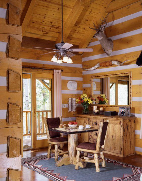 50 best Log Home Interiors images on Pinterest   Wood ...