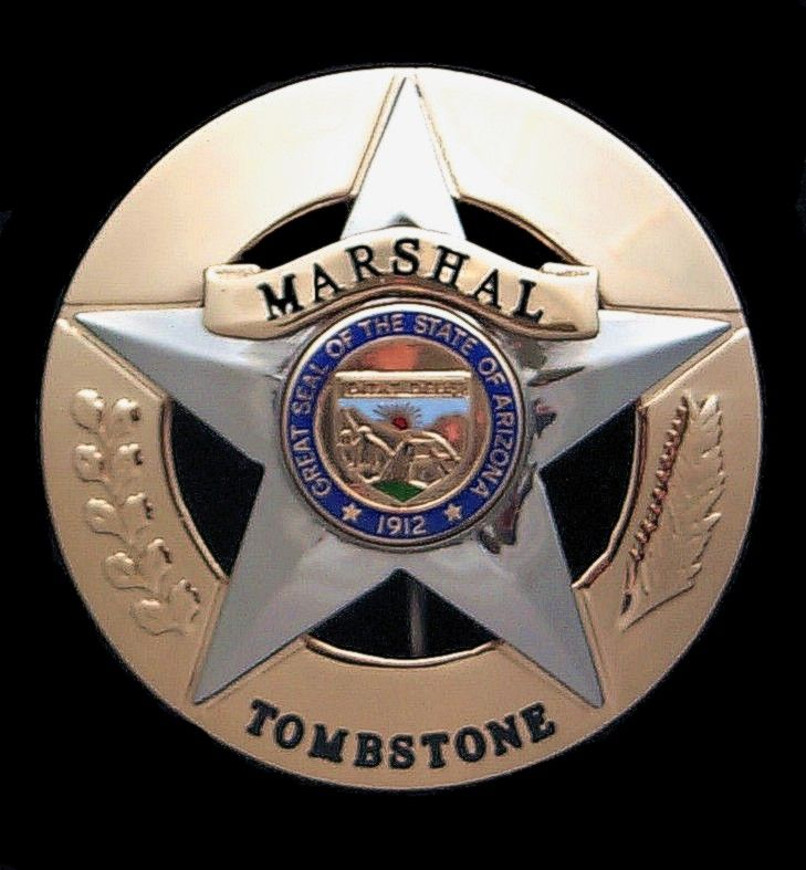 Tombstone Az Marshal Badge Circle Star Police Badges