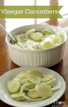 Vinegar Cucumbers - classic summer salad!