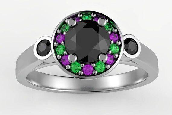 The Joker inspired engagement ring, geek engagement ring, comics engagement ring, geek girlfriend,ge