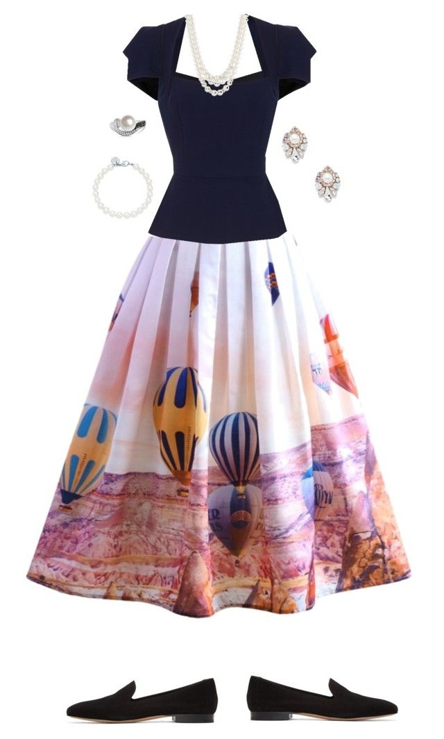 """Ballon dress."" by rikke-grankvist on Polyvore featuring Chicwish, Roland Mouret, Mansur Gavriel, Tiffany & Co., Anne Klein, Sole Society and Allurez"