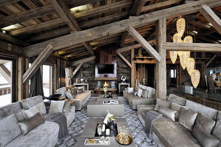 Chalet Brikell was completed in 2011 by the luxury design & rental firm Pure Concept. This 12,900 square foot 5 star plus, sophisticated chalet is located in Megève, Rhône-Alpes region in south-eastern France.  This is a one of a kind cabin