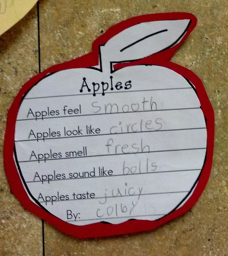 body jewelry shop Denise   I thought of your Apple Day lesson when I saw this   5 Senses Apple Poem
