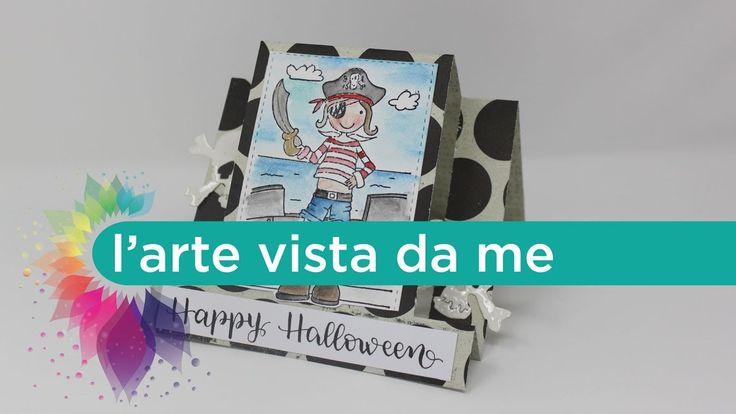 Halloween fai da te:Center Step Card Happy Halloween-I Pirati - Cardmaking