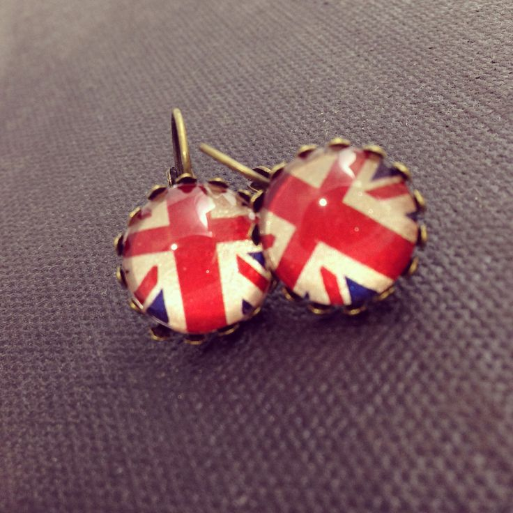 Bellbird Designs Union Flag earrings