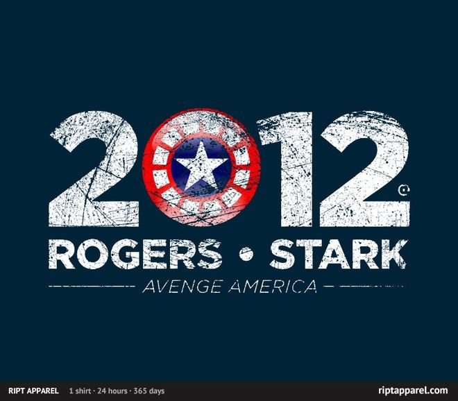 Election T-Shirt - Rogers and Stark 2012 - RIPT Apparel - Aug 26 only!Captain America, Iron Man, Avengers America, Ript Apparel, Rogers, T Shirts, Voting, The Avengers, Stark 2012