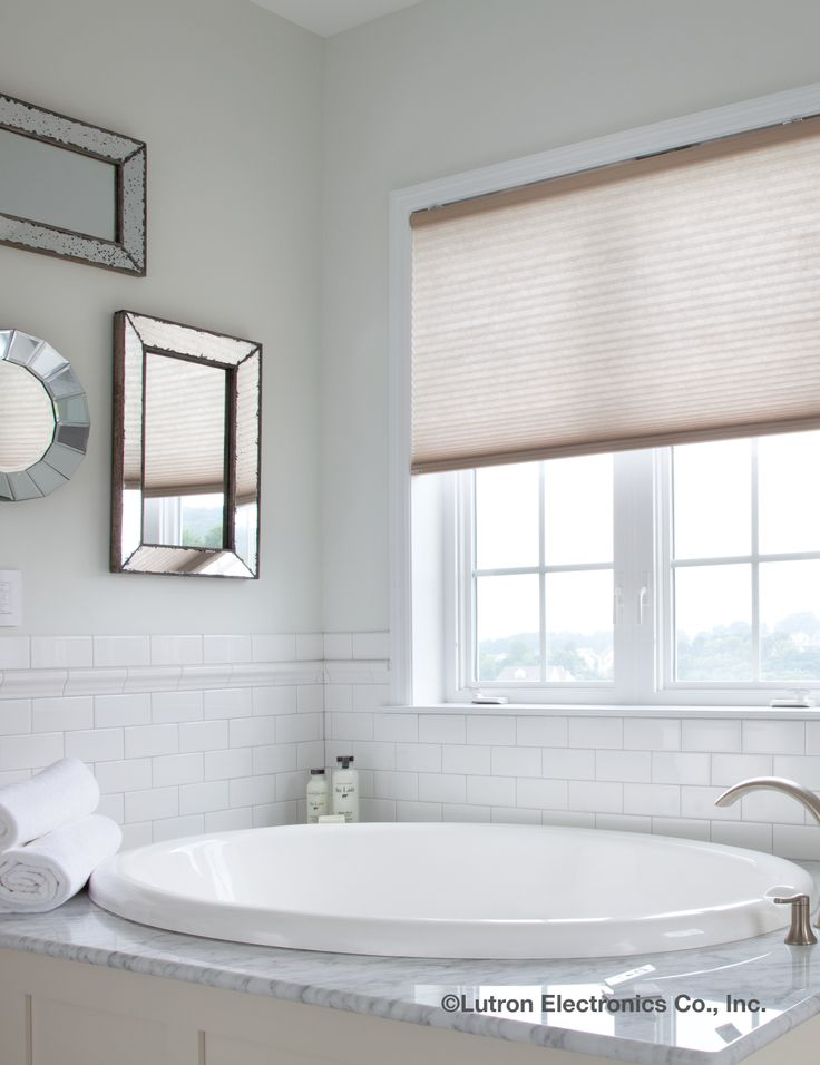 shades bathroom furniture uk%0A Serena Motorized Shades by Lutron