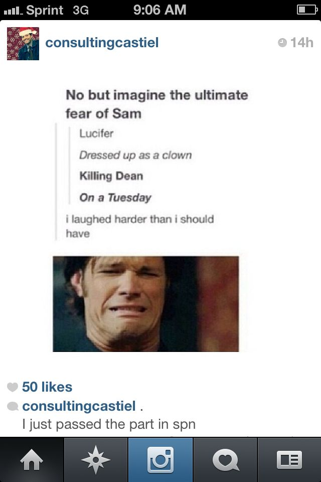 Poor Sammy! #supernatural #Sam Winchester