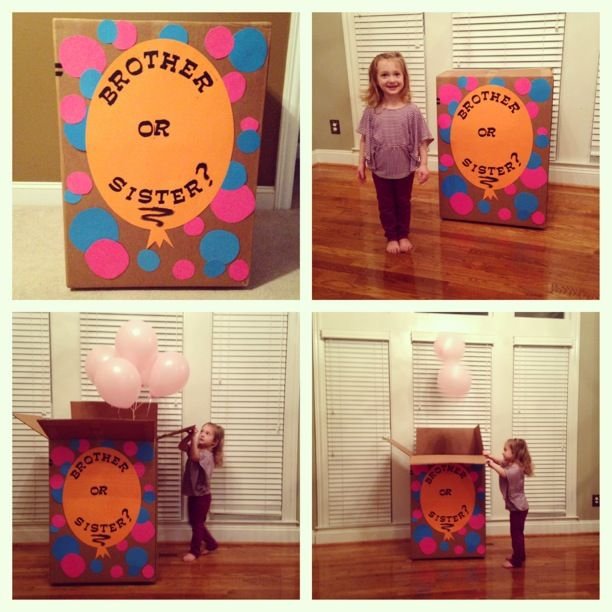 25+ best Sibling gender reveal ideas on Pinterest | Second baby reveal, Sibling baby announcements and Sibling pregnancy reveal