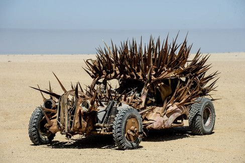 The spikes on these sand cars number the same as the Australian anteater found in the region where the first films were shot.
