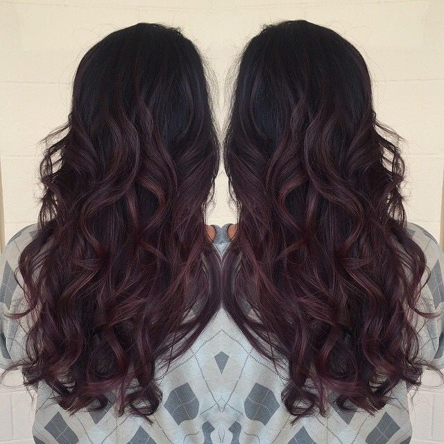 Red Wine Balayage Pinteres