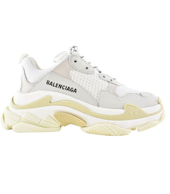 Balenciaga White Triple S Sneakers Size