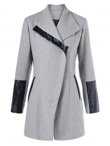 GET $50 NOW | Join RoseGal: Get YOUR $50 NOW!http://www.rosegal.com/coats/zip-up-leather-panel-coat-986532.html?seid=7849858rg986532