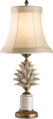 The Pineapple -Symbol of Hospitality. A lamp like this can go in almost any room in the house & is of a timeless style.