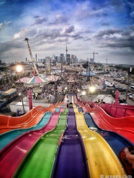 The Ex (Canadian National Exhibition), from the top of Euroslide, Lakeshore, Toronto.  #toronto #amazing #photos #canada