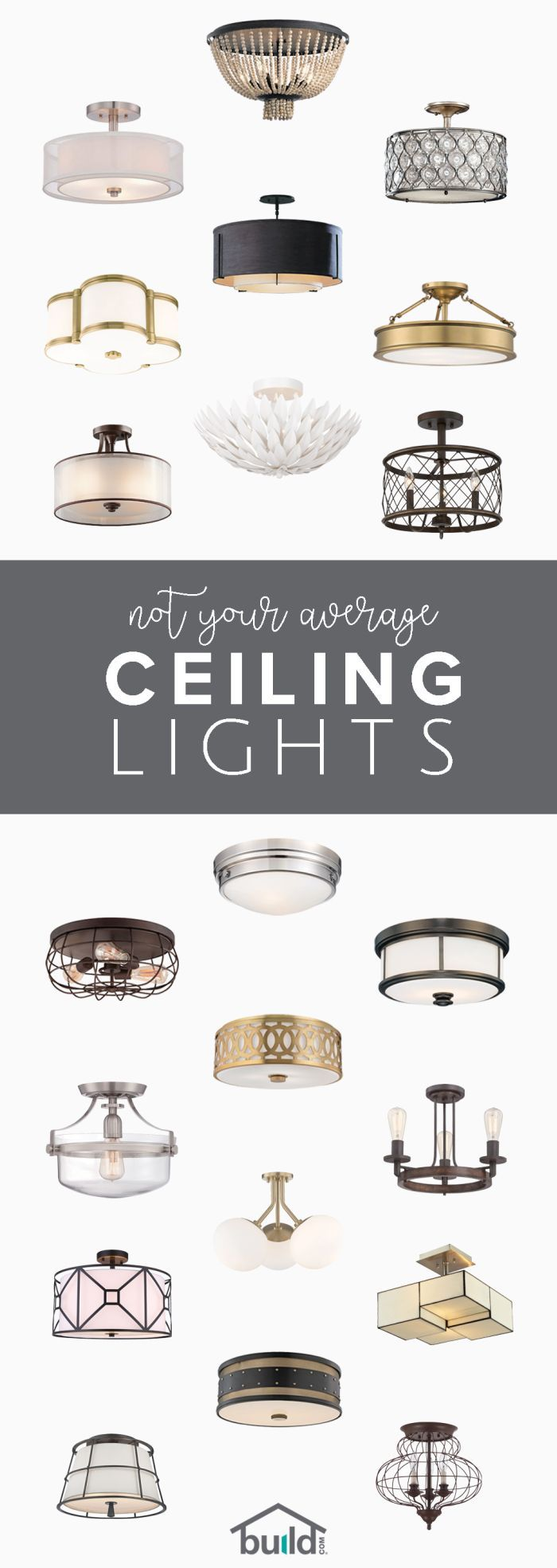 Shop Build.com for a wide selection of unique ceiling lights that you'll love.