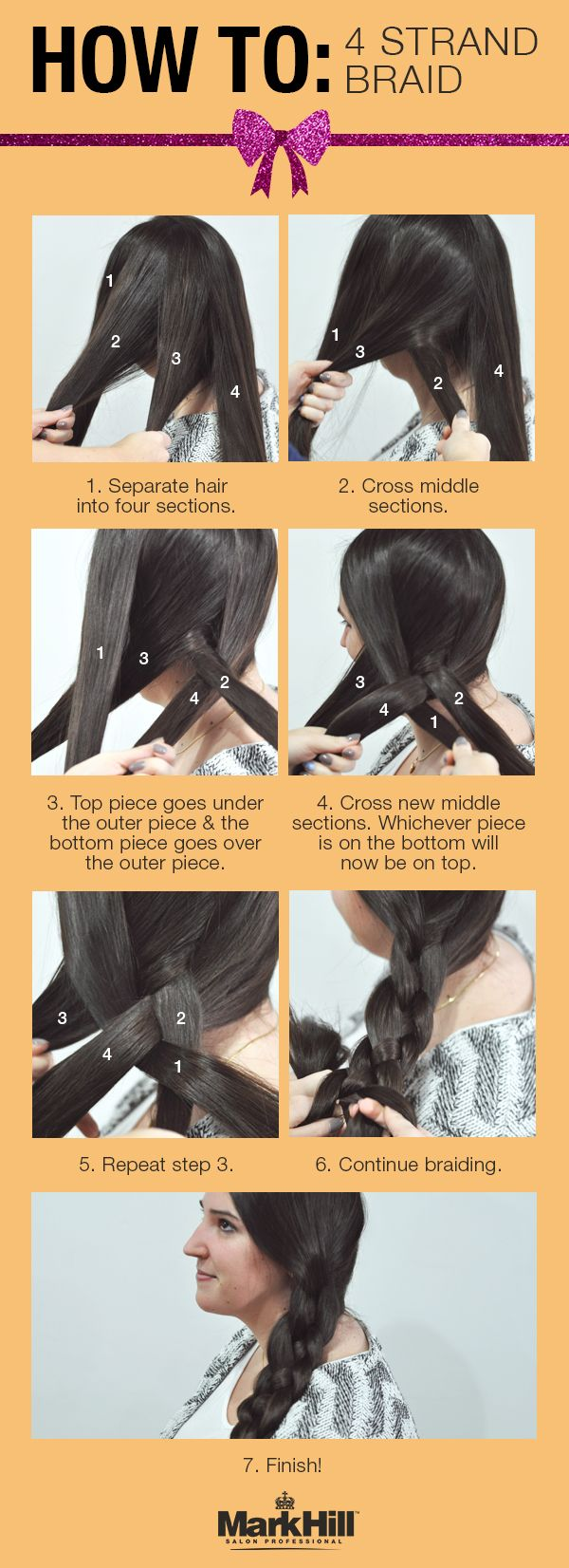 We love this 4 strand braid #tutorial for any occasion.