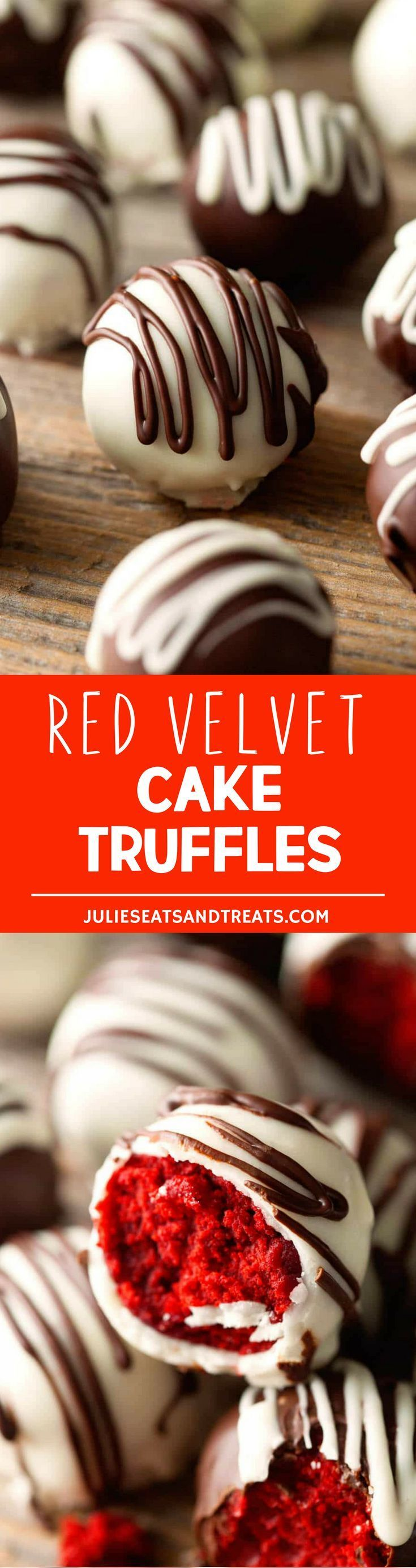 Red Velvet Cake Truffles are the ultimate Valentine's Day treat. Be prepared to fall head over heels for these sweet bites! More homemade and made from scratch recipes from @julieseats