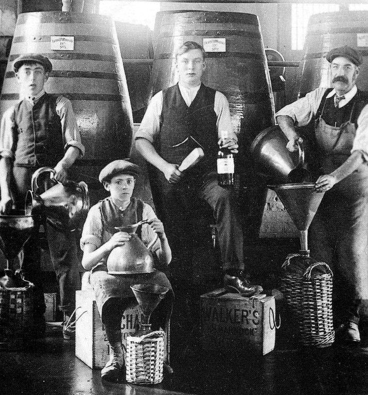 Old photograph of Cardhu Whisky Distillery, Speyside, Scotland
