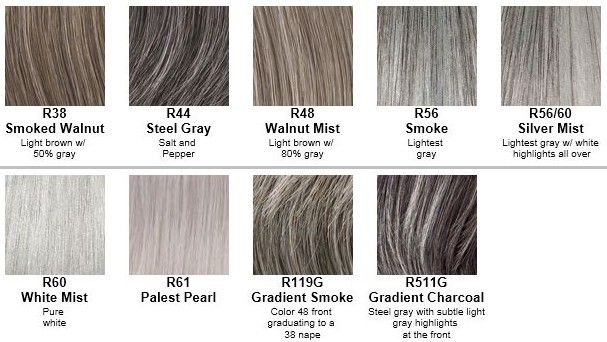Gray Hair Color Chart Hairstyle Ideas