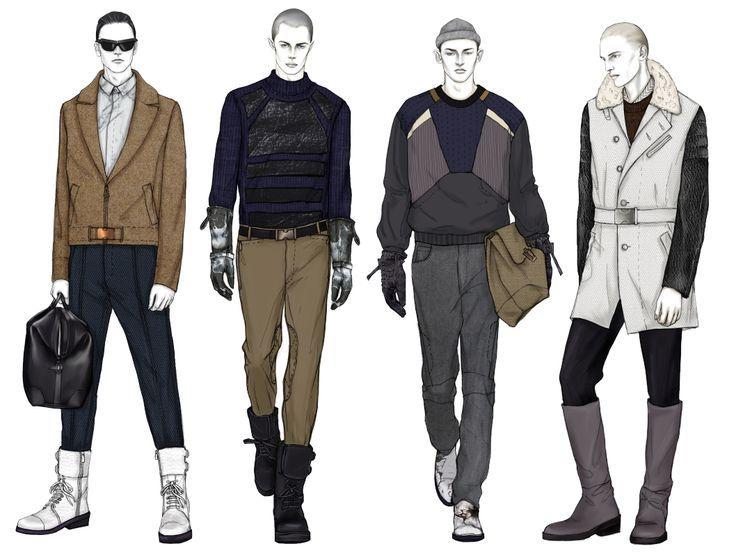 Fashion Illustration Templates Men