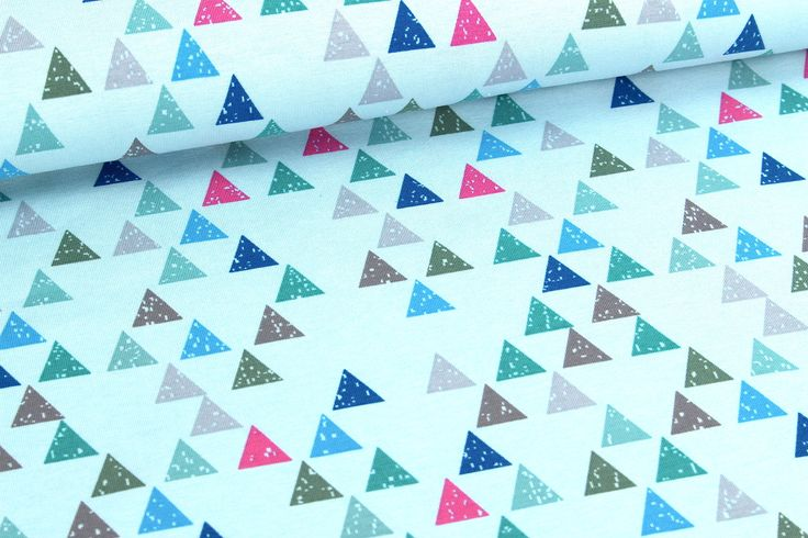 Jersey - Dreiecke - Triangle - Hellblau auf alles-fuer-selbermacher.de