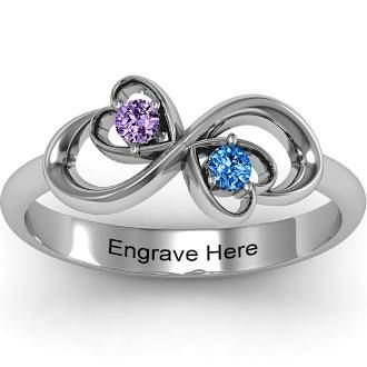 infinity ring with birthstones craft ideas a bit