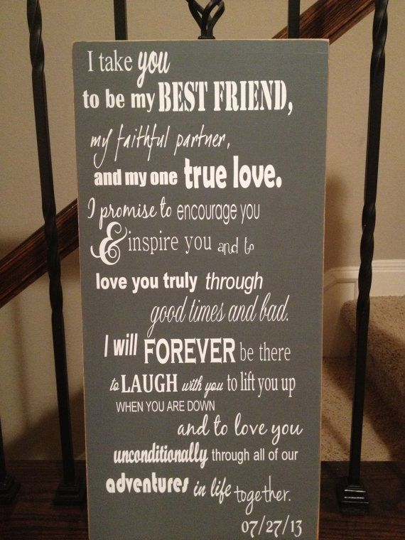 Large I Take You To Be My Best Friend Wedding Sign
