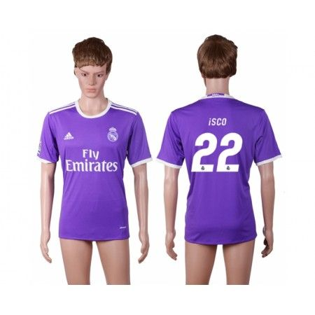 Real Madrid 16-17 #Isco 22 Bortatröja Kortärmad,259,28KR,shirtshopservice@gmail.com