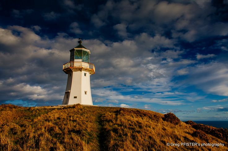 The Old Pencarrow Lighthouse by Greg PFISTER - New Zealand