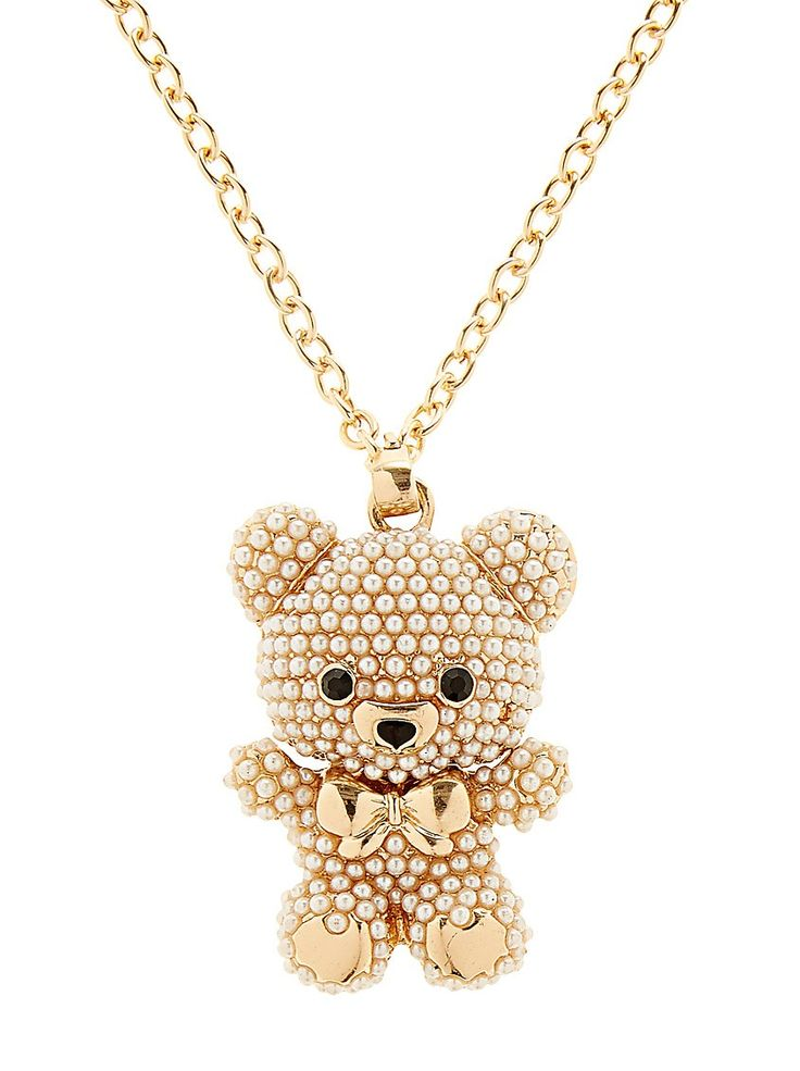 Chain necklace with pearl bear