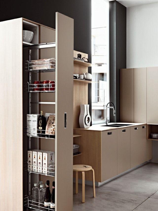 Stauraum Kühlschrank Lebensmittel Komputerplatz Spüle Einrichten - küchenzeile kleine küche