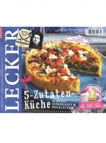 Das Magazin Lecker für 35,00€ mit 30,00€ Gutschein (z.B. von H&M, Media Markt, Amazon uvm.) – Effektivpreis: 5,00€